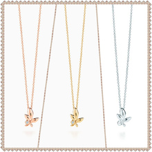 SHINETUNG TIFF original 100% S925 sterling silver olive leaf pendant necklace has logo1:1 female quality gifts