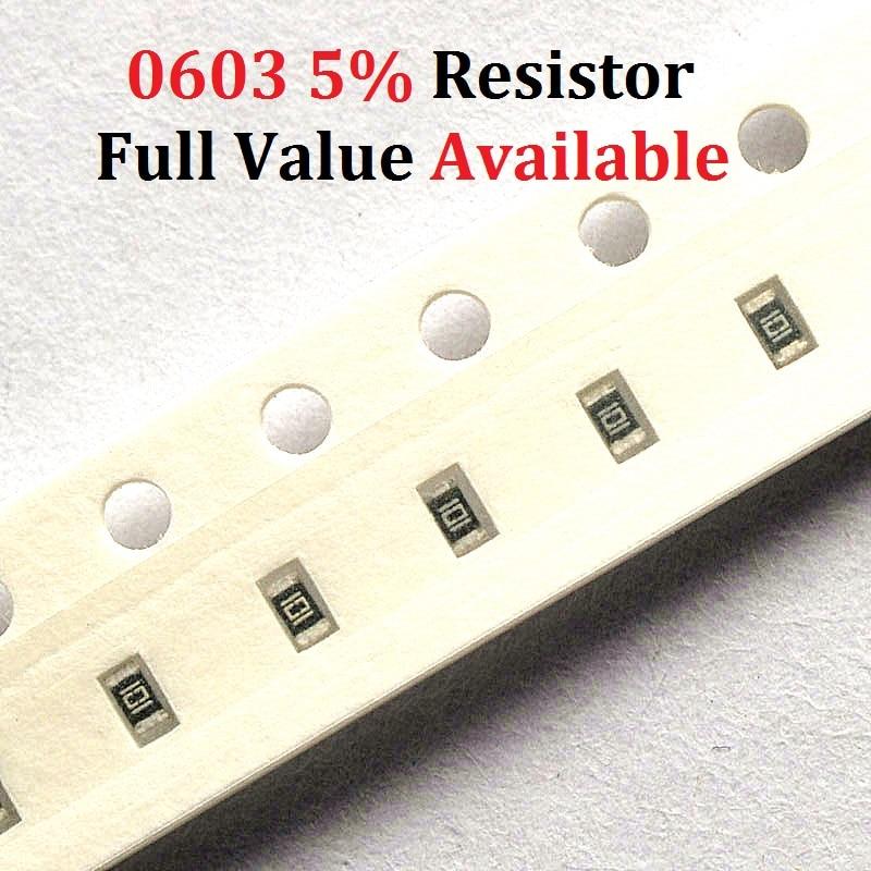 200PCS lot SMD Chip Resistor 0603 16R 18R 20R 22R 24R 5 Resistance 16 18 20