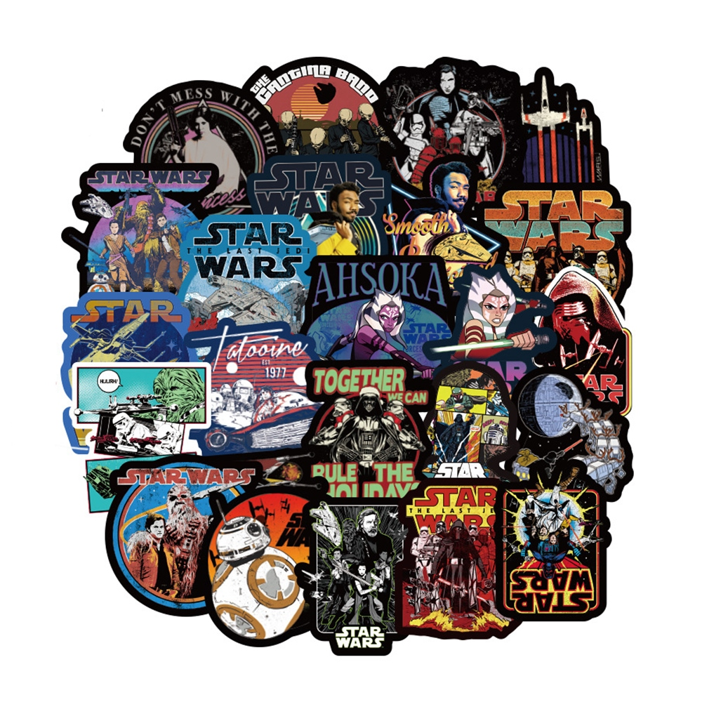 108pcs/pack New Super Cool Star Wars Stickers For Luggage Laptop Decal Skateboard Bicycle Car Guitar Fridge Stationery Stickers