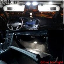9pcs For Kia Sportage 2011 2012 2013 Dome Vanity Mirror Glovebox Trunk Plate LED 12v Car Interior Light Kit Package Light