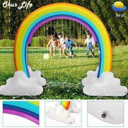 280x160X80cm Kinder Aufblasbare Wasser Sprinkler Regenbogen Brücke Kind Spielen Spaß Garten Strand Outdoor Spielzeug umwelt Sichere PVC