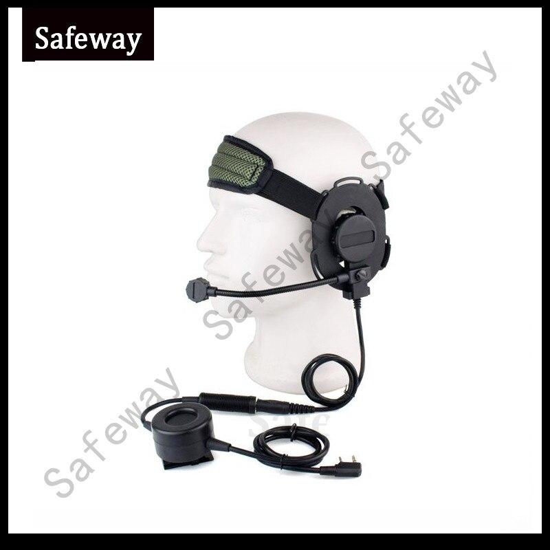 Z Tactical Bowman Elite II Headset Walkie Talkie Tactical Earphone For Kenwood Baofeng UV-5R TK3107 TK3207 TK480 TK 278