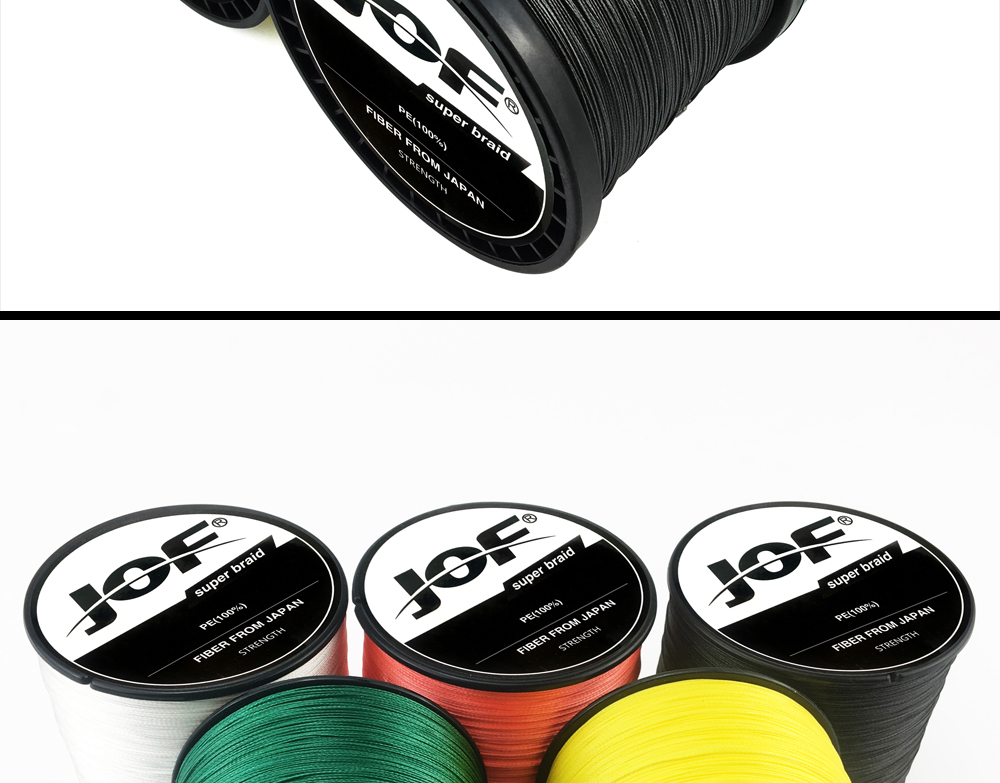 Multicolor 8 Strands 300M 500M 1000M PE Braid Fishing Line Sea Saltwater Fishing Weave 100% SuperPower JOF 22