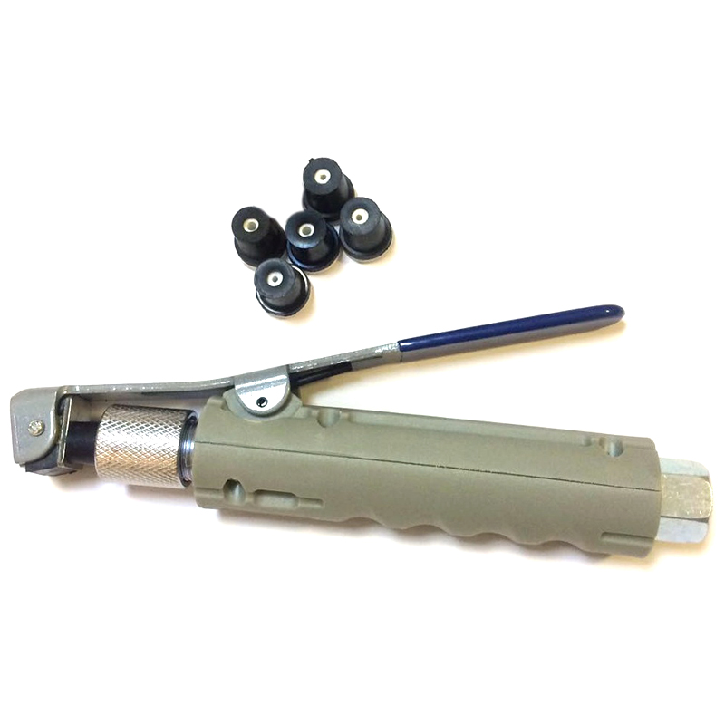 Hand Held Pneumatic Blasting Tool Portable Rust Blasting Machine Accessories With 5 Nozzle Heads