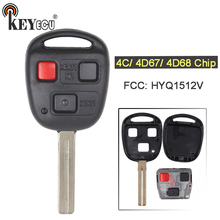 KEYECU 4C/ 4D67/ 4D68 Chip FCC: HYQ1512V Replacement 2+1 3 Button Remote Car Key Fob for Lexus
