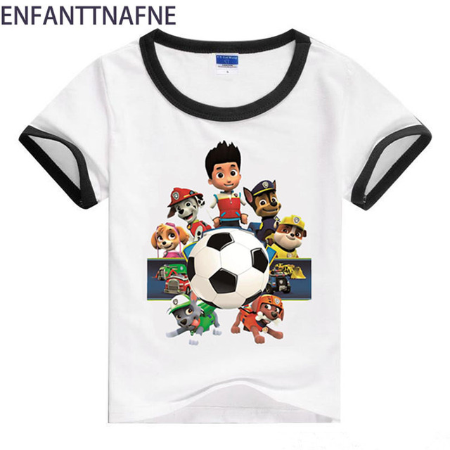 e838ef93 Boys Girls Short Sleeve T-shirt Baby Cartoon Dog Printing Girl Tee Tops  Children Cotton Clothes For Summer Kids T shirt boy