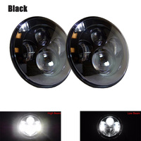 7 inch Headlamp Hi/Lo Beam 45W round headlight car accessories for Hummer H1 Jeep TJ Lada Jeep Niva 4x4 Cars