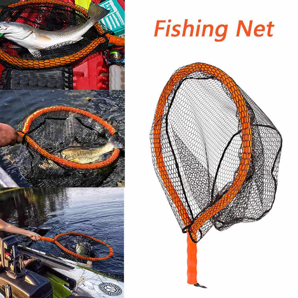 Peixe Rede de pesca rede de Aterragem De Borracha Durável Malha de Material Seguro de Captura de Peixe Catching Net de alta qualidade por atacado