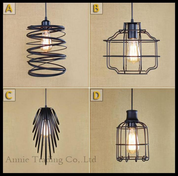 ФОТО 2015 New Design Art Deco Pendant Light Industrial Restaurant Shop Store Lamp Dining Room Kitchen Bar Iron hanging Lamps