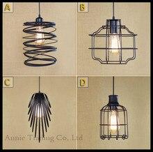 2015 nuevo diseño Art Deco luz pendiente Industrial restaurante tienda tienda de la lámpara comedor cocina barra de hierro lámparas colgantes