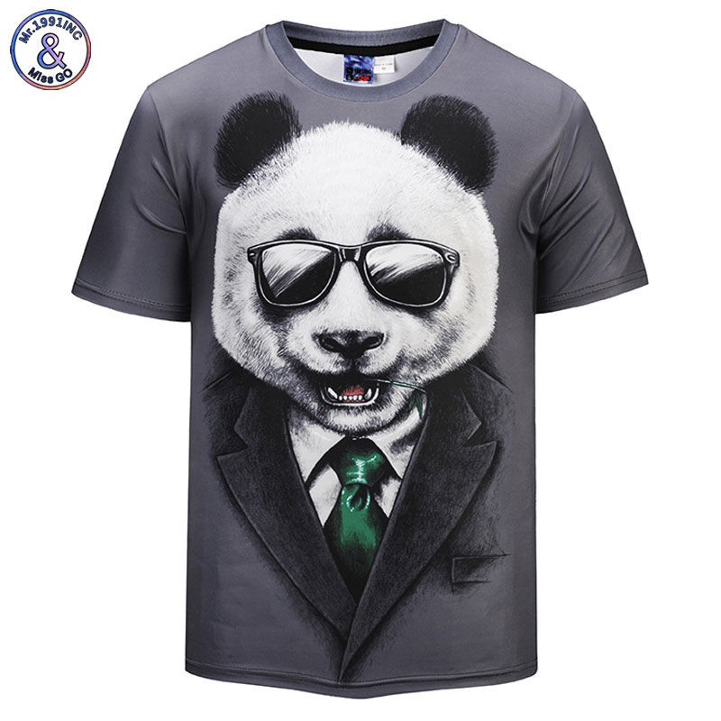 Mr.1991INC New Arrivals 2018 Fashion Men/women 3d T-shirt Print Glasses Panda Cool Cartoon Brand T shirts Tops Tees DK571