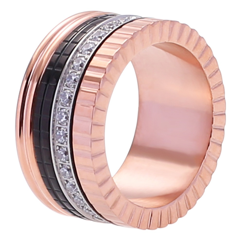 Martick Stainless Steel Luxury Rings For Women and Man Gold Rose ...