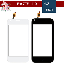 10pcs/lot 4.0 For ZTE Blade L110 LCD Touch Screen Digitizer Sensor Outer Glass Lens Panel Replacement 4 0 for zte blade l110 lcd touch screen digitizer sensor outer glass lens panel replacement