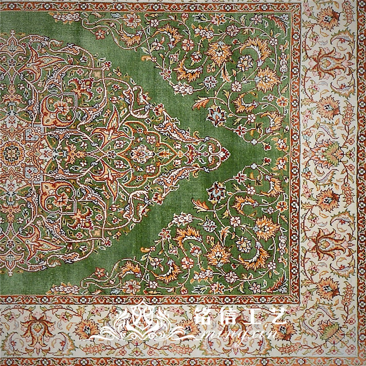 2.5 'x10' à la main tissage Long tapis de soie à la main coureur tapis couloir décor - 4