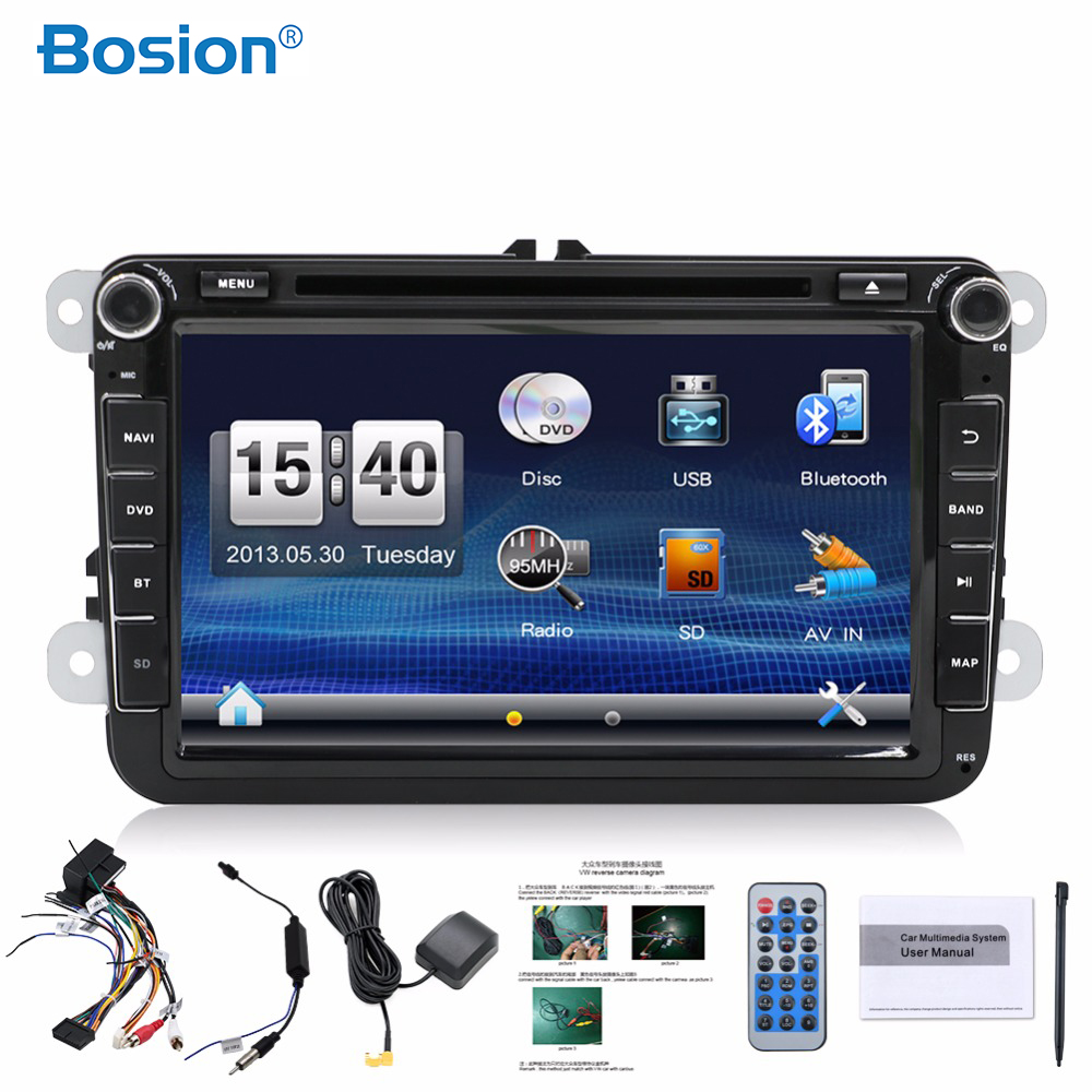 2 Din Car Multimedia DVD GPS Navigation 8 Inch Audio Camera TV Player for VW GOLF 6 New Polo Map Wifi Radio DVD Player