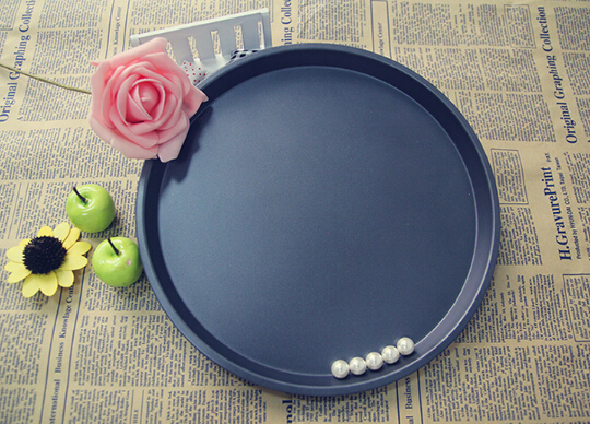 1PC 10 InchesThicked 2cm Deep Pan Pizza Aluminium Alloy Disc Pizza Home Pizza Baking Tray DIY Kitchen JC 0502