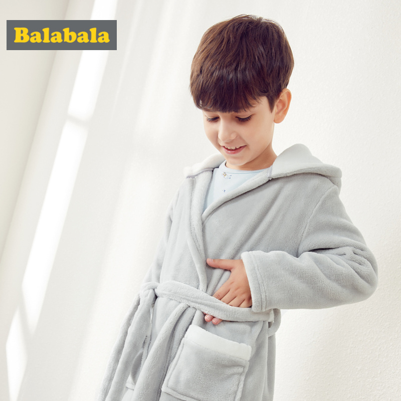 Balabala Jungen Critter Ohr Mit Kapuze Flanell Fleece-gefüttert Robe Mit Tasche Wrap Silouette Für Kid Kleinkind Junge Mit Stickerei An Kapuze