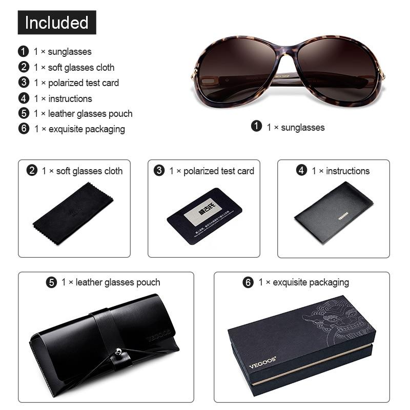 VEGOOS Luxury Brand Designer Polarisierte Sonnenbrille Sonnenbrille - Bekleidungszubehör - Foto 6