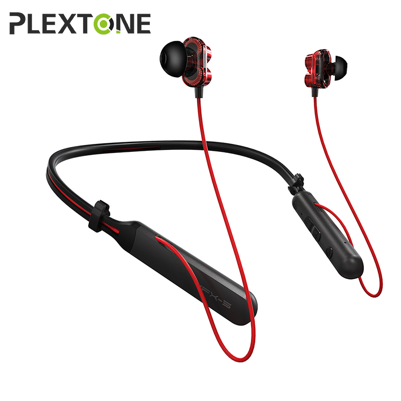 Plextone BX345 auriculares Bluetooth inalámbricos de banda para el cuello HIFI auriculares estéreo bajo con micrófono auriculares para teléfonos iPhone Xiaomi deporte