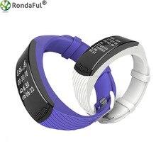 Новый P5 GPS местоположение SmartBand открытый Бег Велоспорт смарт-браслет сердечного ритма высота Температура измерения спортивный браслет
