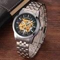 Роскошный Новый Спортивные Часы Мужчины Моды Случайные Скелет Автоматическая Механическая Нержавеющей Стали Мужские Наручные Часы Для Мужчин лучший Подарок