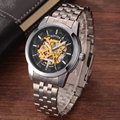 Luxury New Sport Watch Men Fashion Casual Skeleton Automatic Mechanical Stainless Steel Mens Wrist Watches For Mens best Gift