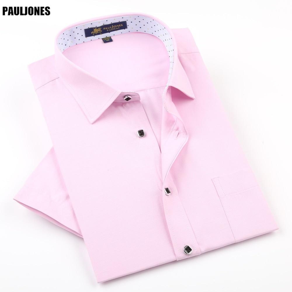 PaulJones D422x Kualiti Fesyen Korea Mens Linen Shirts Lengan Pendek - Pakaian lelaki - Foto 1