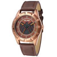 2015 Led Outdoor Hiking Sports Watch Expensive Military Men Genuine Leather Watches Top Brand Luxury Vilam
