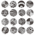 10PCS 60 Designs Nail Art Stamping Plates Stainless Steel DIY Nail Polish Print Stamps for Manicure Nail Art Stencil Template