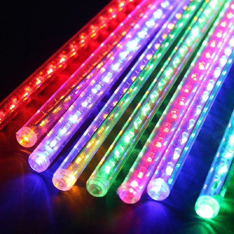 High-Quality-50CM-8-Tube-LED-Romantic-Meteor-Snowfall-Tube-Shower-Rain-LED-Light-holiday-Party (1)
