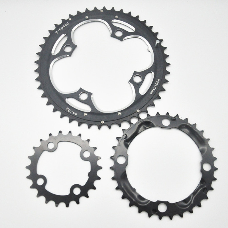 MEROCA 22T <font><b>32T</b></font> 44T MTB Mountain Bikes Road Bicycles Crank Hollow Repair Crankset Chainrings Tooth Slice Parts part shipping image