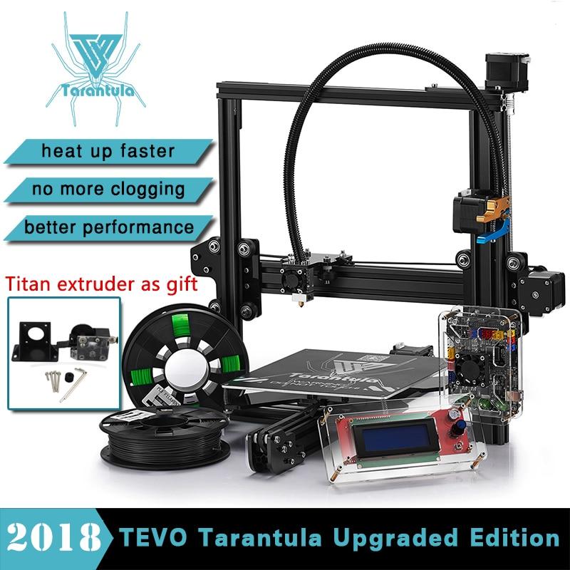 TITAN Extrudeuse 3D Imprimante Diy Tevo Tarantula I3 3D imprimante Unique Double Extrudeuse 3D Imprimante Kit LCD SD Carte et deux rouleau Filament