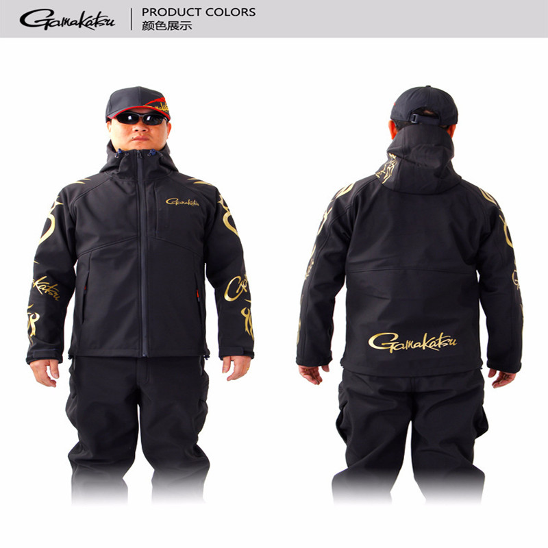 Pattern GM Fishing Clothing Shell Jacket Keep Warm Waterproof Mountaineering Loose Coat With Hood Winter Fishing