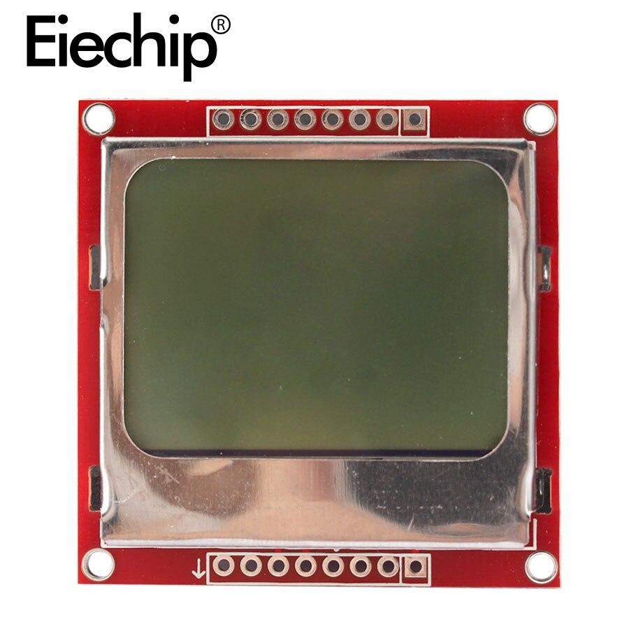 TFT LCD Monitor de módulo de pantalla blanco adaptador de contraluz PCB 84*48 84x48 para Nokia 5110 pantalla de matriz Digital para Arduino