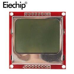 Wyświetlacz tft LCD ekran modułowy biały podświetlenie Adapter PCB 84*48 84x48 dla Nokia 5110 ekran matryca cyfrowa dla Arduino|Moduły LCD|Części elektroniczne i zaopatrzenie -