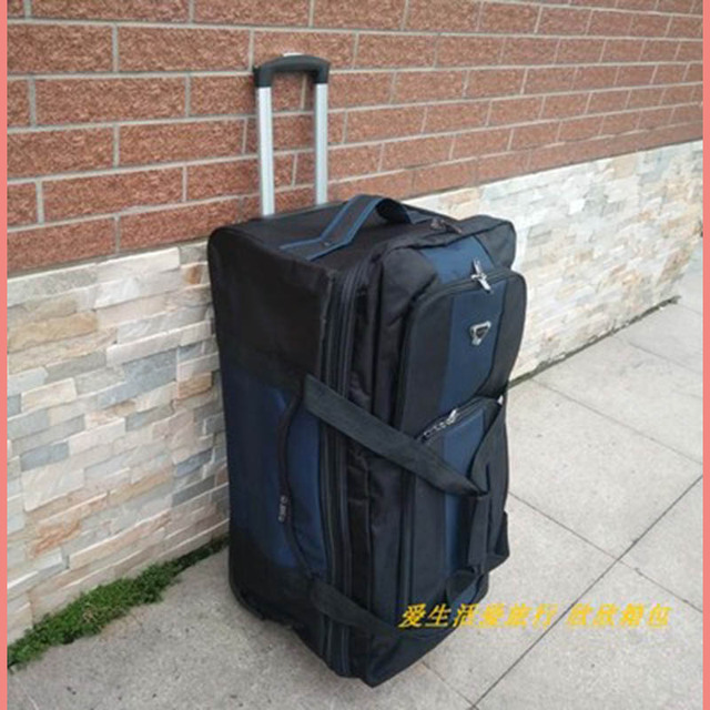 BeaSumore Large Capacity 32 inch Black Travel Bag Rolling Luggage Casters Men Business Trolley Multifunction Suitcases Wheel