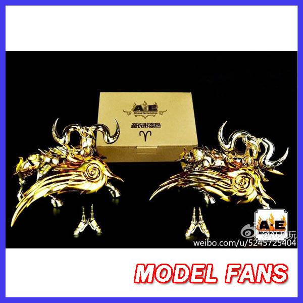 FÃS MODELO modelo AE EX aries mu alma de Ouro Saint Seiya Mito Pano De ouro armadura de metal kits de presente do metal pés
