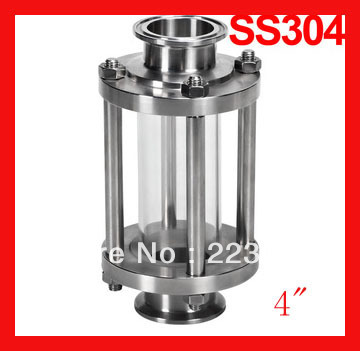 4 Sanitary clamp sight glass, Stainless steel straight sight glass , Tri-clamp end flow tube do less get more