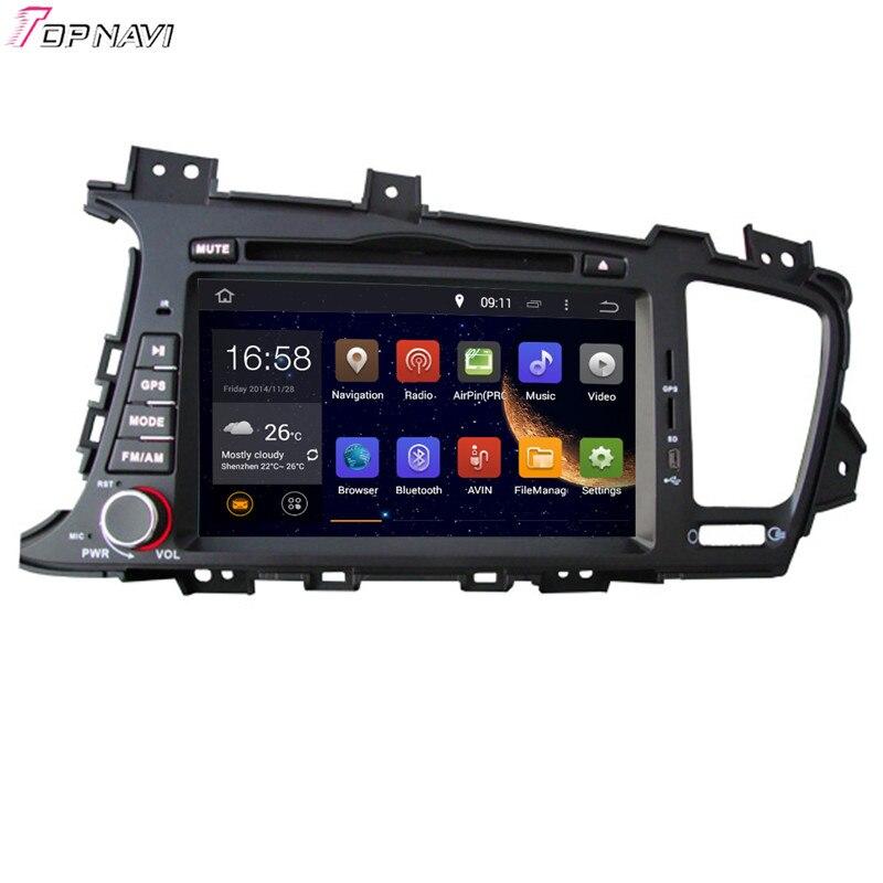 TOPNAVI 8 ''Quad Core Android 6.0 voiture lecteur DVD pour KIA K5/OPTIMA 2011-/Magentis multimédia Autoradio GPS Navigation