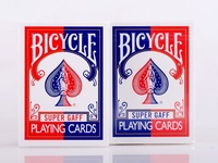 2pcs Set Bicycle Super Gaff Deck Blue Red Magic Cards Playing Card Poker Close Up Stage