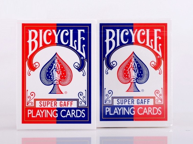 2pcs/Set Bicycle Super Gaff Deck Blue&Red Magic Cards Playing Card Poker Close Up Stage Magic Tricks for Professional Magician