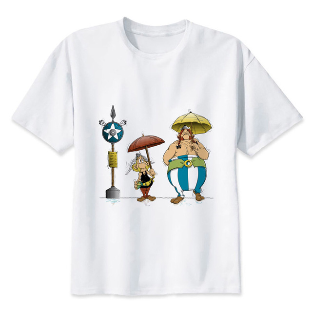 asterix and obelix T-Shirts Men Personalized Custom Tee 2017 Summer Short  Sleeve Fitness T