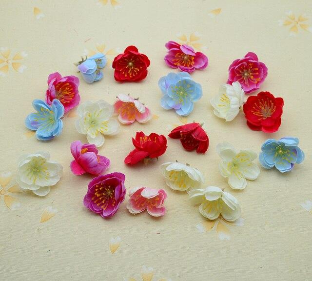 50 pcs estame De Seda Cereja home acessórios decoração do casamento scrapbooking diy presente de Natal coroa de flores artificiais flores de plástico falso