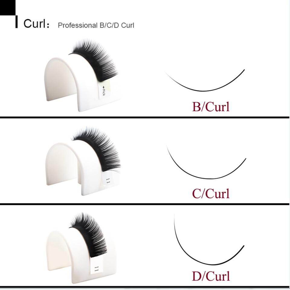 12 Líneas / Bandeja B / C / D Extensión de Pestañas Rizo 3D Corea - Maquillaje - foto 4