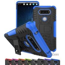 Para LG V20 caso 5.7 pulgadas híbrido Patas de bicicleta Dazzle resistente de goma Armaduras duro PC + TPU 2 en 1 con caso de la cubierta de la función del soporte