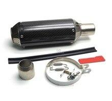 Universal Motorcycle Akrapovic Modified Exhaust pipe For Honda VFR 1200 F 2010 12 13 14-2016 GSX1250 2010 GSX1250 GSX 1250 2010