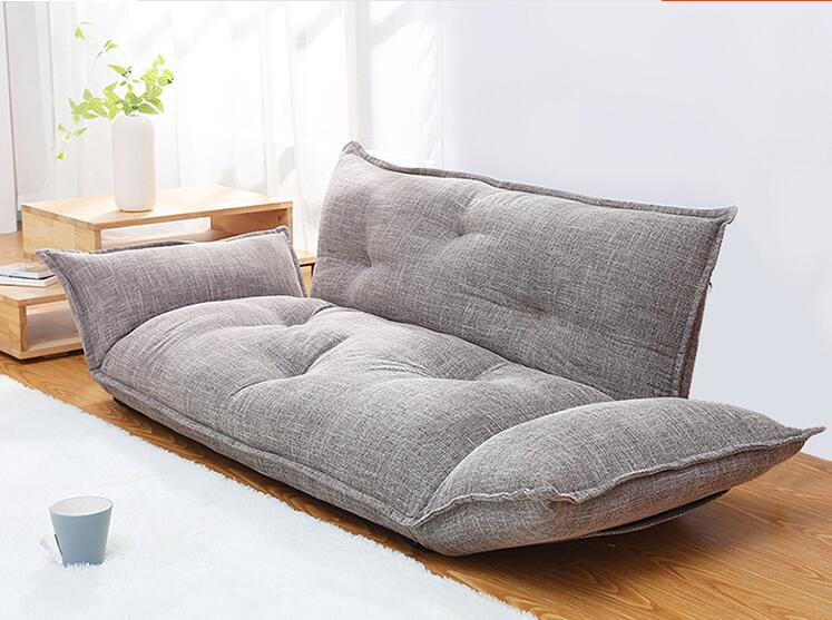 Modern Design Floor Sofa Bed 5 Position Adjustable Sofa Plaid Japanese Style  Furniture Living Room Reclining Folding Sofa In Living Room Sofas From ...