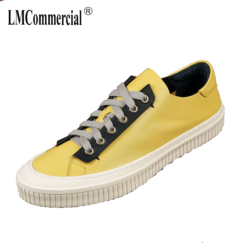 spring 2018 new all-match Genuine Leather men's Casual shoes all-match cowhide breathable sneaker fashion Leisure shoes men 2017 new spring imported leather men s shoes white eather shoes breathable sneaker fashion men casual shoes