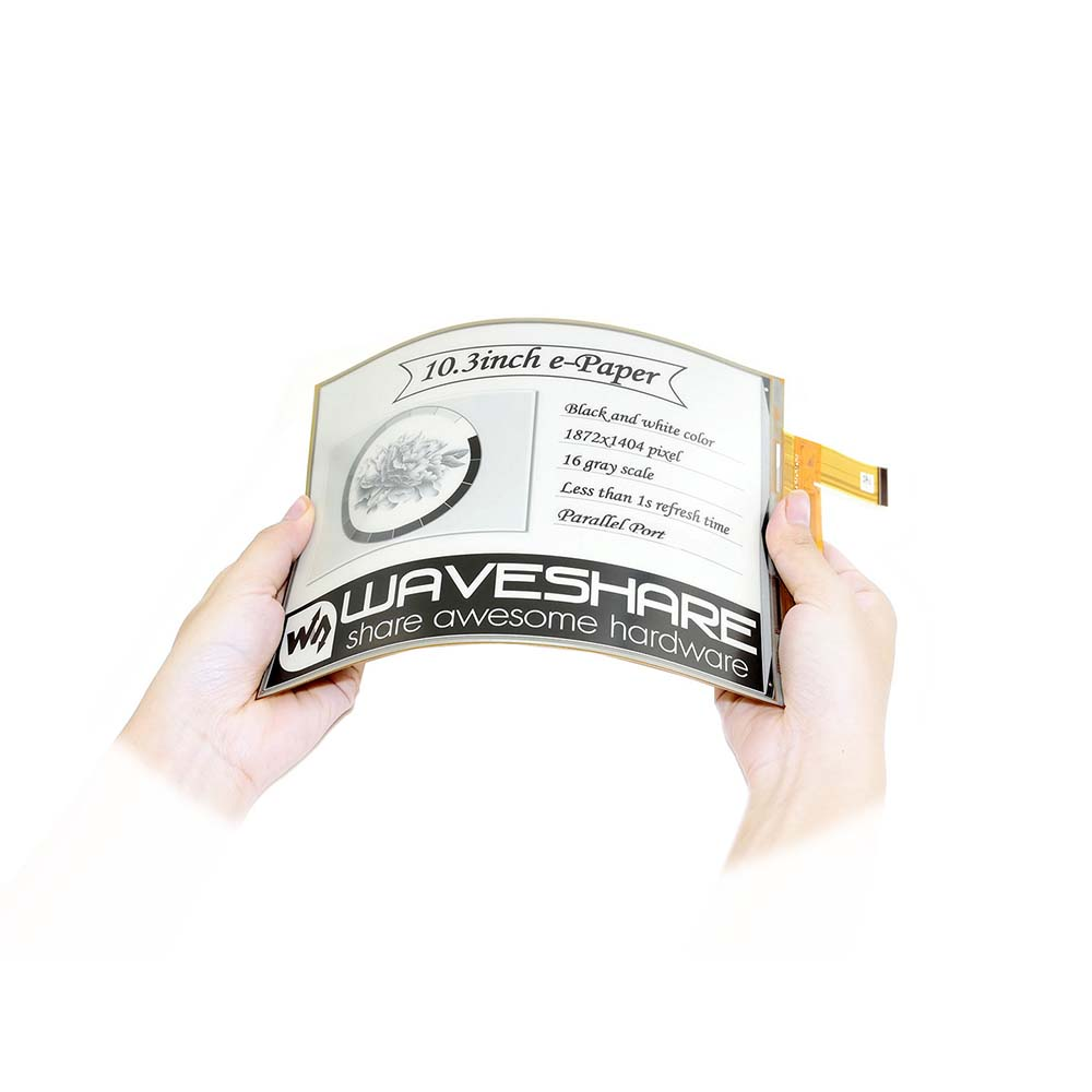 Waveshare  10.3inch Flexible E-Ink Raw Display, Parallel Port, Without PCB,1872*1404 Resolution,supports Partial Refresh