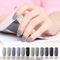 12 Grey Series UV Nail Gel Polish Nice Gel Polish Light Grey Color LED UV Gel Dark Grey Coat Nail Gel Nailpolish Holographic